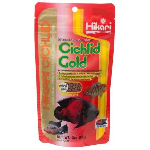 Hikari Cichlid gold mini 57 g - A Daily, Color-Enhancing Diet For Cichlids And Larger Tropical Fish
