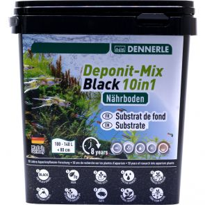 Dennerle DeponitMix Black 10in1 Multi mineral substrate - 2.4 kg
