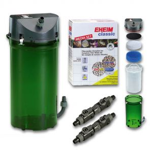 Eheim 2213 Classic external filter with biological filter media and taps