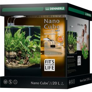 Dennerle NanoCube Complete+ SOIL - Power LED 5.0 - Aquarium set - 20 liter