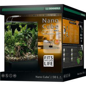 Dennerle NanoCube Complete+ SOIL - Power LED 5.0 - Aquarium set - 30 liter