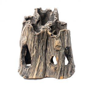 GreenWorks ceramic hiding place - Tree trunk triple (18×23 cm)