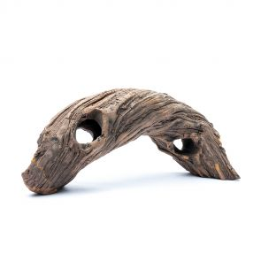 GreenWorks ceramic hiding place - curved tree trunk XS (18 cm)